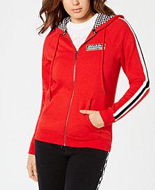 Dickies Striped-Sleeve Checkered Hoodie