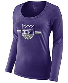 Nike Women's Sacramento Kings Dri Logo Long Sleeve T-Shirt