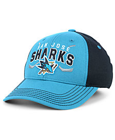 Outerstuff Boys' San Jose Sharks Faceoff Flex Stretch Fitted Cap