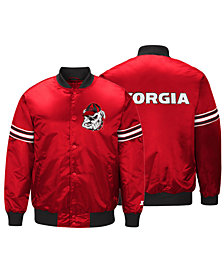 G-III Sports Men's Georgia Bulldogs Draft Pick Varsity Satin Jacket