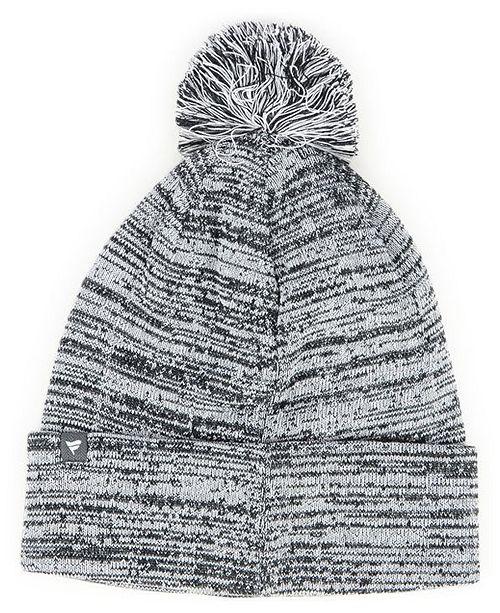 new styles 9be55 b9af2 Authentic NHL Headwear Edmonton Oilers Black White Cuffed Pom Knit Hat ...
