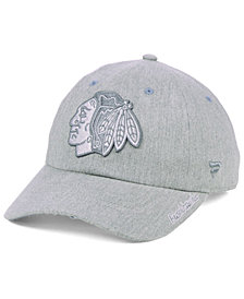 Authentic NHL Headwear Women's Chicago Blackhawks Lux Fundamental Adjustable Cap