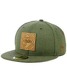 New Era Pittsburgh Pirates Leather Patch 59FIFTY-FITTED Cap