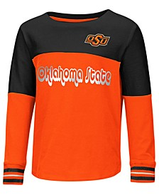 Oklahoma State Cowboys Colorblocked Long Sleeve T-Shirt, Toddler Girls (2T-4T)