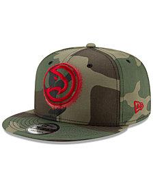New Era Atlanta Hawks Overspray 9FIFTY Snapback Cap