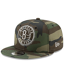 New Era Brooklyn Nets Overspray 9FIFTY Snapback Cap