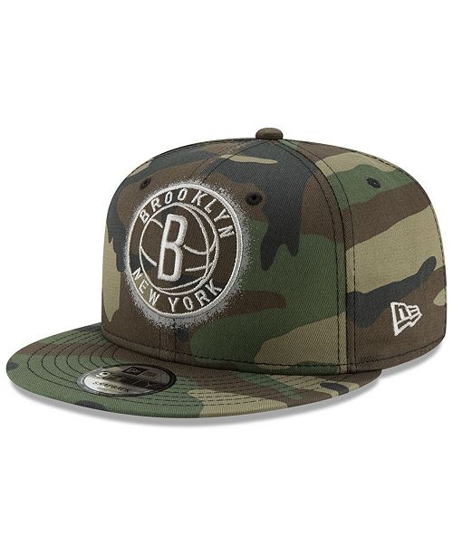 outlet store c32a6 ffcdf ... New Era Brooklyn Nets Overspray 9FIFTY Snapback Cap ...