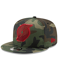 New Era Portland Trail Blazers Overspray 9FIFTY Snapback Cap