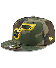 New Era Utah Jazz Overspray 9FIFTY Snapback Cap