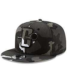 New Era Detroit Pistons Overspray 9FIFTY Snapback Cap