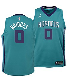 Nike Miles Bridges Charlotte Hornets Icon Swingman Jersey, Big Boys (8-20)