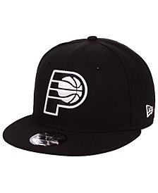 Indiana Pacers Black White 9FIFTY Snapback Cap