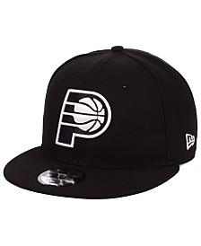 New Era Indiana Pacers Black White 9FIFTY Snapback Cap