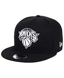 New York Knicks Black White 9FIFTY Snapback Cap