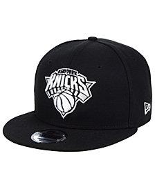 New Era New York Knicks Black White 9FIFTY Snapback Cap