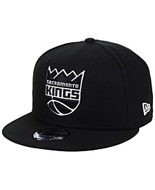Sacramento Kings Black White 9FIFTY Snapback Cap