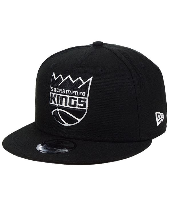 New Era Sacramento Kings Black White 9FIFTY Snapback Cap