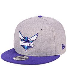 New Era Charlotte Hornets Heather Gray 9FIFTY Snapback Cap