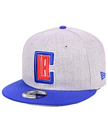 Los Angeles Clippers Heather Gray 9FIFTY Snapback Cap