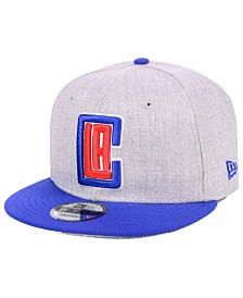 New Era Los Angeles Clippers Heather Gray 9FIFTY Snapback Cap