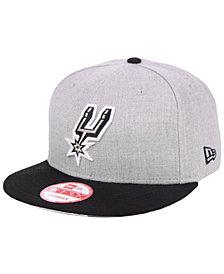 New Era San Antonio Spurs Heather Gray 9FIFTY Snapback Cap