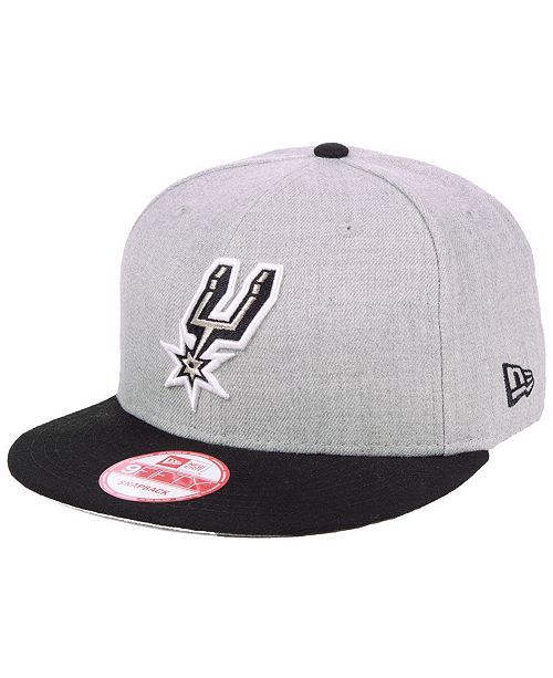bc70b4d7 New Era San Antonio Spurs Heather Gray 9FIFTY Snapback Cap - Sports ...