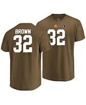 Majestic Men s Jim Brown Cleveland Browns Hall of Fame Eligible Receiver  Triple Peak T-Shirt c4cc6cf33