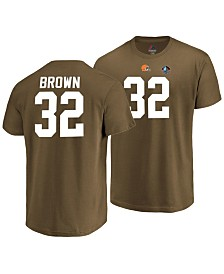 Majestic Men's Jim Brown Cleveland Browns Hall of Fame Eligible Receiver Triple Peak T-Shirt