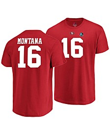 Majestic Men's Joe Montana San Francisco 49ers Hall of Fame Eligible Receiver Triple Peak T-Shirt