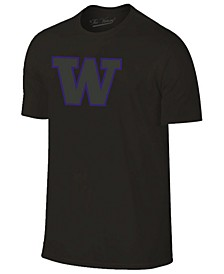 Men's Washington Huskies Black Out Dual Blend T-Shirt