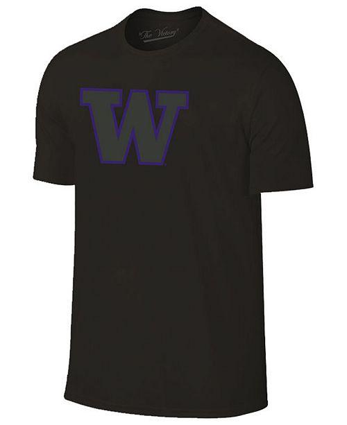 Champion Men's Washington Huskies Black Out Dual Blend T-Shirt