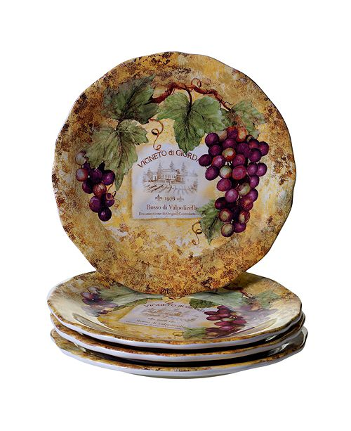 Certified International Gilded Wine 4-Pc. Dinner Plate