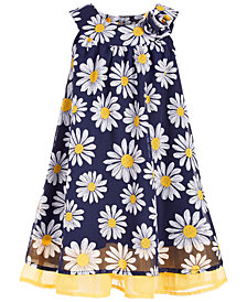 Blueberi Boulevard Toddler Girls Floral-Print Chiffon Dress
