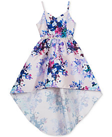 Rare Editions Little Girls Floral-Print High-Low Dress