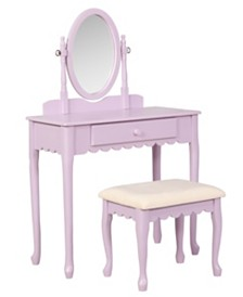 Ellie Lilac Youth Vanity Set