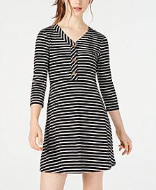 Ultra Flirt Juniors' Striped Fit & Flare Dress