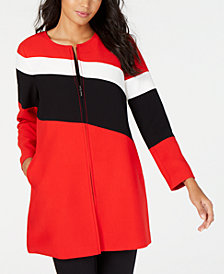 Alfani Colorblocked A-Line Jacket, Created for Macy's
