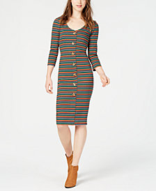 Ultra Flirt Juniors' Striped Bodycon Dress