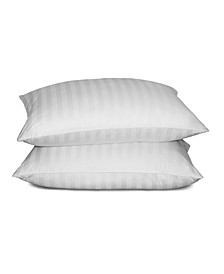 500 Thread Count Cotton Damask Siberian White Down Pillow Collection