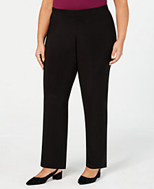 Alfred Dunner Plus Size Shining Moments Pull-On Pants