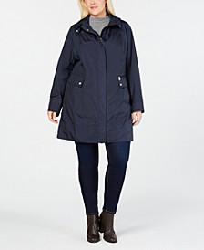 Plus Size Packable Water-Resistant Raincoat