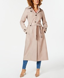 0c5421ea374c0 London Fog Hooded Single-Breasted Trench Coat