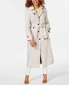 London Fog Petite Single-Breasted Trench Coat