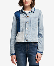 DKNY Cotton Patchwork Denim Jacket, Created for Macy's
