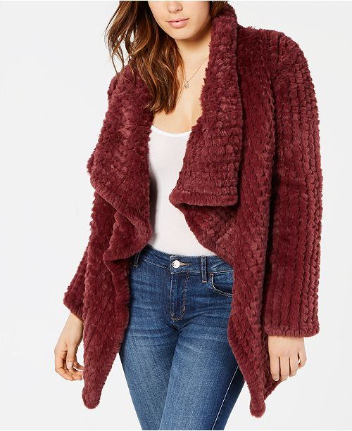 GUESS Westlyn Draped Faux-Fur Jacket