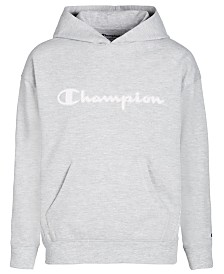 Champion Little Girls Mesh-Logo Frency Terry Hoodie