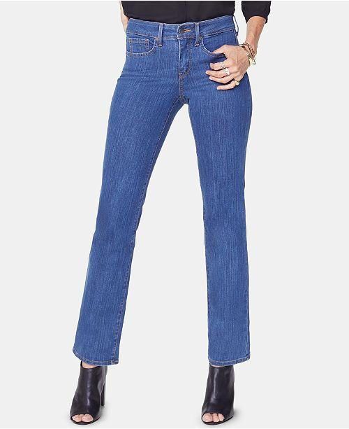 5901fd4feec NYDJ Marilyn High-Rise Straight-Leg Jeans   Reviews - Jeans ...