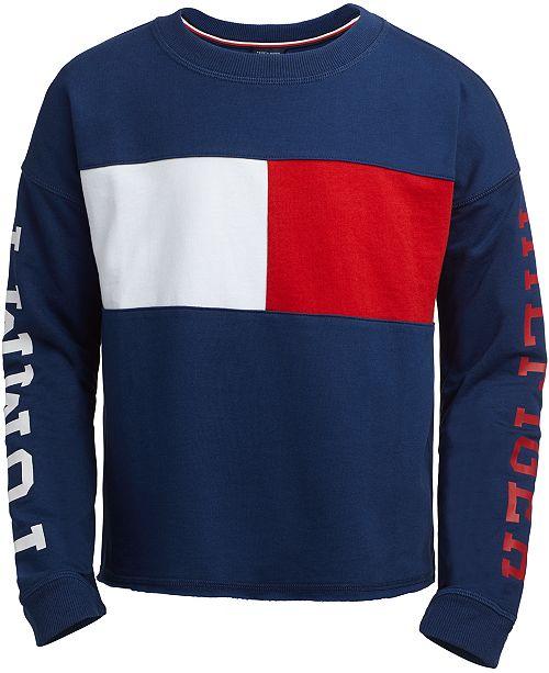 924b96563 Tommy Hilfiger Big Girls Sweatshirt & Reviews - Sweaters - Kids - Macy's