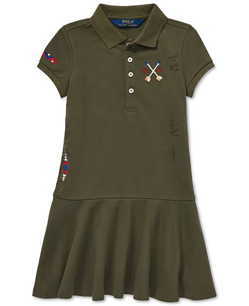 d3bf92a07f Polo Ralph Lauren Little Girls Embroidered Mesh Polo Dress & Reviews ...