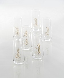 Stemless Flutes - Set of 6